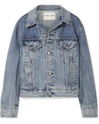 Sandy Liang - Wells Oversized Embellished Denim Jacket - Lyst