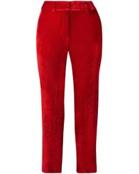 Sies Marjan - Willa Cropped Silk And Cotton-blend Corduroy Straight-leg Pants - Lyst
