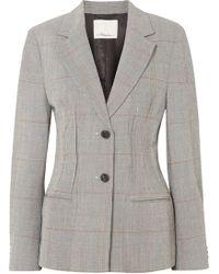 3.1 Phillip Lim - Checked Wool-blend Blazer - Lyst