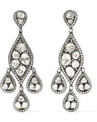 Amrapali - 18-karat Gold, Sterling Silver And Diamond Earrings - Lyst