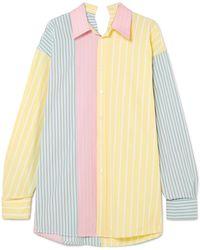 Marni - Oversized Striped Cotton Shirt - Lyst