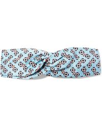Fendi - Printed Silk-satin Headband - Lyst