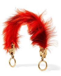Prada - Gold-tone And Shearling Bag Strap - Lyst