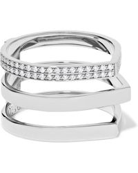 Repossi - Antifer 18-karat White Gold Diamond Ring - Lyst