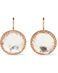 Larkspur & Hawk - Olivia Button Rose Gold-dipped Topaz Earrings - Lyst