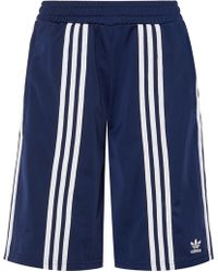 adidas Originals - + Ji Won Choi Striped Satin-jersey Shorts - Lyst