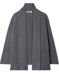 Agnona - Ribbed Cashmere Cardigan - Lyst