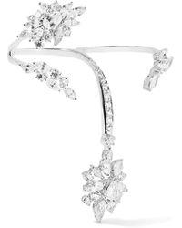 YEPREM - 18-karat White Gold Diamond Two-finger Ring - Lyst