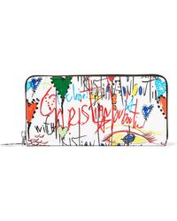 Christian Louboutin - Panettone Printed Patent-leather Wallet - Lyst