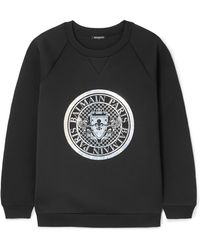 Balmain - Cotton Logo Printed Sweatshirt - Lyst