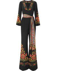 Etro Printed Silk Crepe De Chine Jumpsuit