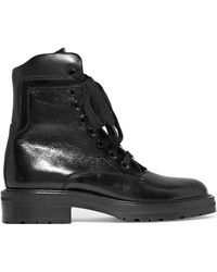 Saint Laurent - William Glossed-leather Ankle Boots - Lyst