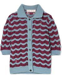 Marni - Crocheted Wool-blend Cardigan - Lyst