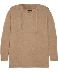 The Elder Statesman - Heavy Hockey Lace-up Hooded Cashmere Sweater - Lyst