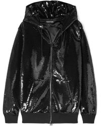 Tom Ford - Sequined Satin Hoodie - Lyst