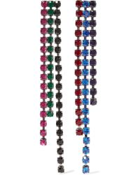 Christopher Kane - Silver-tone Crystal Earrings Silver One Size - Lyst