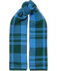 Markus Lupfer - Checked Wool-jacquard Scarf - Lyst