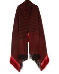 Melt - Kamal Fringed Striped Herringbone Yak And Camel-blend Wrap - Lyst
