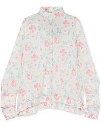 JOSEPH - Antoine Floral-print Silk Crepe De Chine Blouse - Lyst