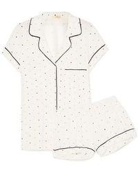 Eberjey - Printed Stretch-jersey Pajama Set - Lyst