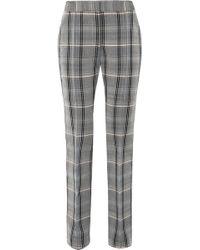 Stella McCartney - Checked Wool And Cotton-blend Twill Slim-leg Pants - Lyst