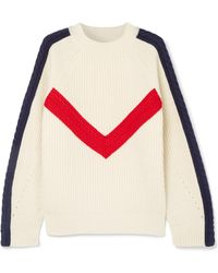 SJYP - Cable-knit Ribbed Wool Sweater - Lyst