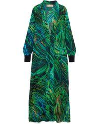 Elie Saab - Printed Silk-blend Georgette Jacket - Lyst