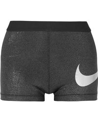 Nike - Sparkle Pro Cool Dri-fit Stretch-lamé Shorts - Lyst