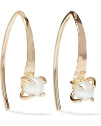 Melissa Joy Manning - 14-karat Gold Pearl Earrings - Lyst