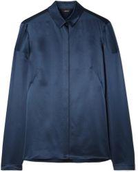 Akris - Silk-satin Shirt - Lyst