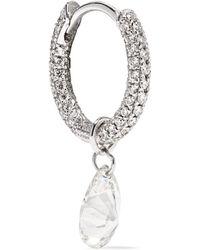 Maria Tash - 18-karat White Gold Diamond Hoop Earring - Lyst