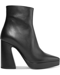 Proenza Schouler - Leather Platform Ankle Boots - Lyst