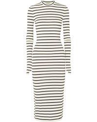 Preen By Thornton Bregazzi - Nikki Striped Stretch-crepe Midi Dress - Lyst