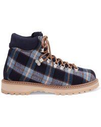 Diemme - Roccia Vet Checked Canvas Ankle Boots - Lyst