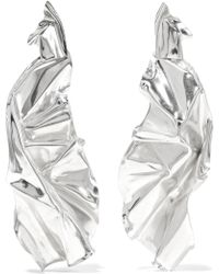 Wwake - Closer By Veil Sterling Silver Earrings - Lyst