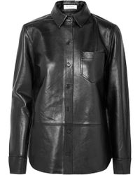 Equipment - Brett Leather Shirt - Lyst