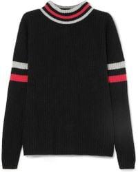 The Elder Statesman - Odyssey Striped Ribbed Cashmere Turtleneck Sweater - Lyst