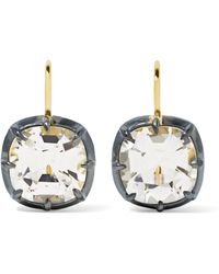 Fred Leighton - Collection Silver-plated, 18-karat Gold And Topaz Earrings - Lyst