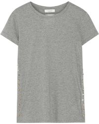 Valentino - Rockstud Embellished Cotton-jersey T-shirt - Lyst