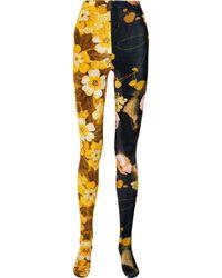 Richard Quinn - Floral-print Velvet Leggings - Lyst