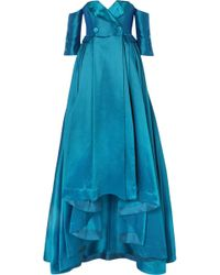 Alexis Mabille - Off-the-shoulder Satin-piqué Gown - Lyst