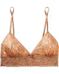 Hanky Panky - Stardust Metallic Stretch-lace Soft-cup Triangle Bralette - Lyst
