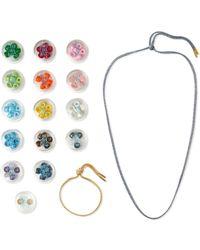 Carolina Bucci - Lurex Multi-stone Bracelet And Necklace Set - Lyst