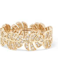 Sydney Evan - Monstera 14-karat Gold Diamond Ring - Lyst