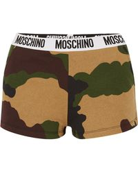 Moschino - Camouflage-print Cotton-jersey Boy Shorts - Lyst