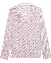 CALVIN KLEIN 205W39NYC - Printed Voile Pyjama Shirt - Lyst