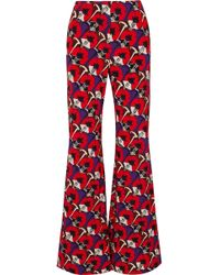 Marni - Floral-print Jersey Wide-leg Trousers - Lyst
