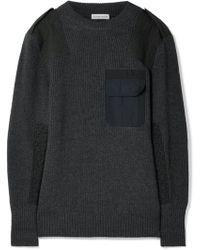Tomas Maier   Twill-paneled Merino Wool Sweater   Lyst