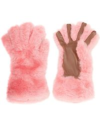 Marni - Leather-trimmed Shearling Gloves - Lyst