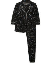 DKNY - Printed Jersey Pyjama Set - Lyst